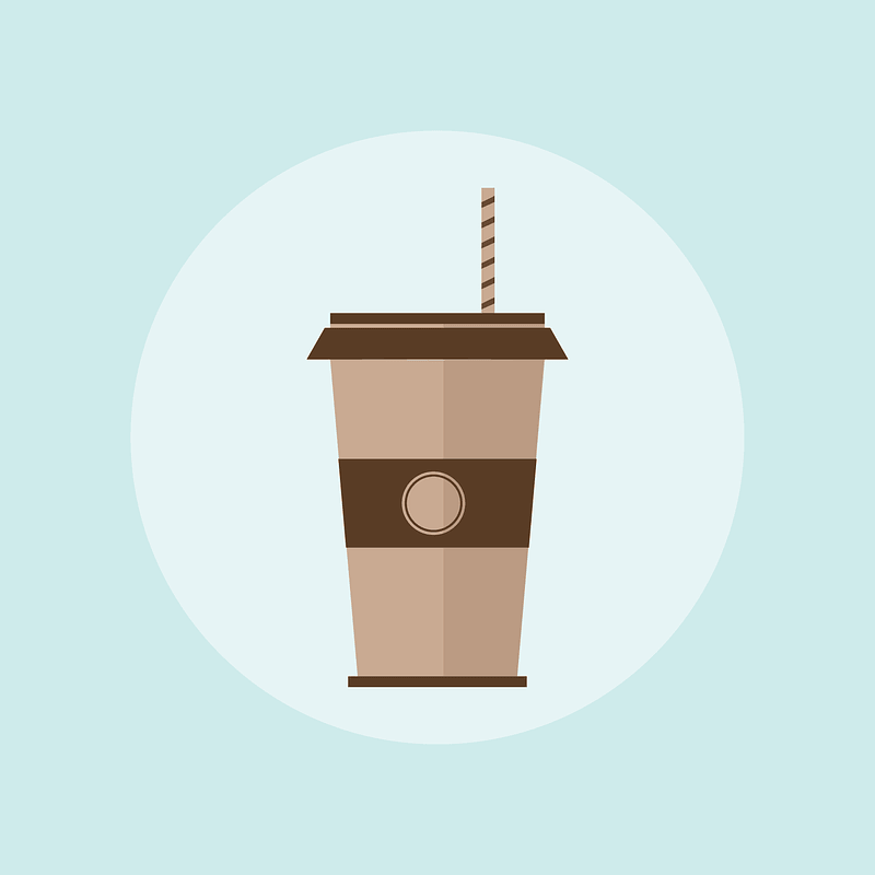 Paper Coffee Cap Background vector
