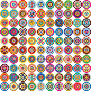 Lsd Circles Abstract Background vector