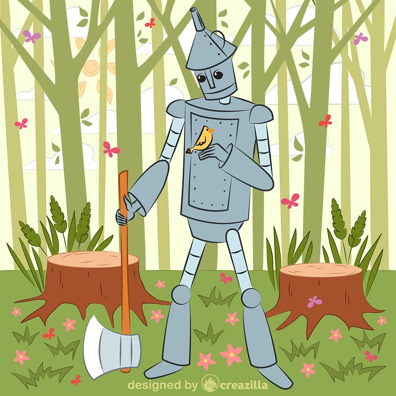 Tin Man from Wizard of Oz vector