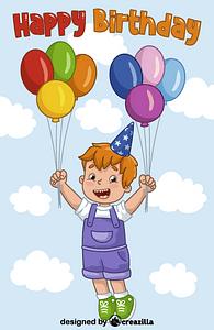 Birthday boy vektori