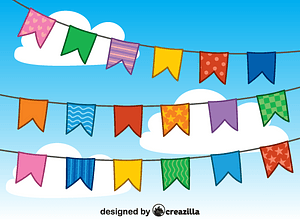 Birthday bunting vector