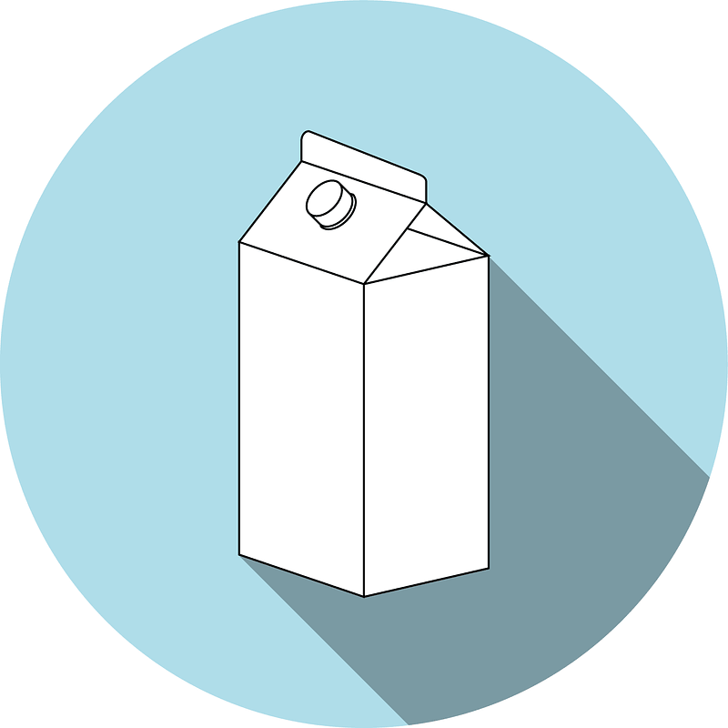 Milk Carton Box Background vector