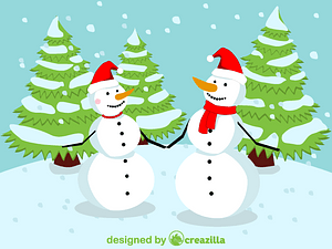 Christmas Snowmen vector