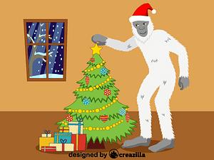 Christmas Yeti vector