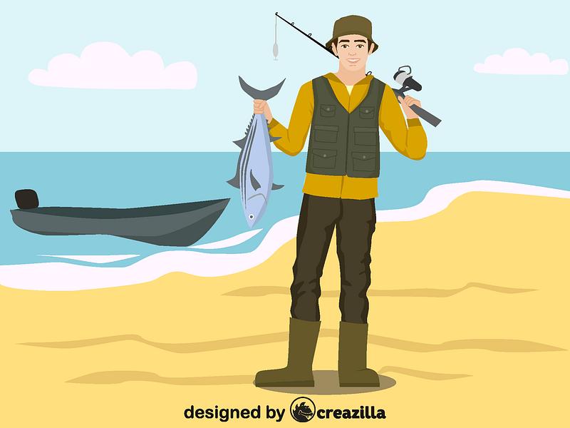 fisherman vector free download creazilla https creazilla com pages 4 license information