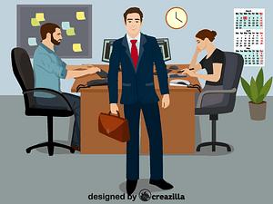 Office workers vector