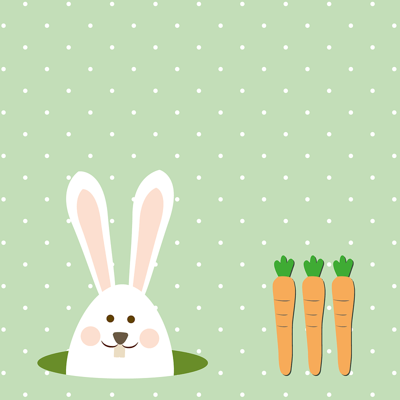 Hare and Carrots Background vector