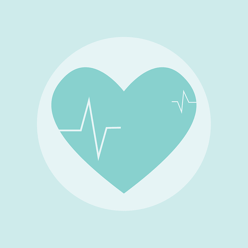 Health Heart Rate Icon vector