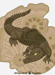 Steampunk Alligator vector