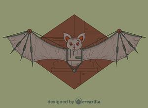 Steampunk Bat vector