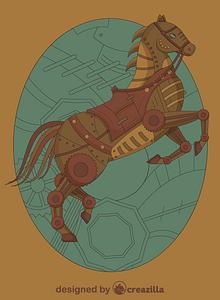 Steampunk Horse vector