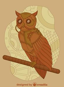 Steampunk Owl vector
