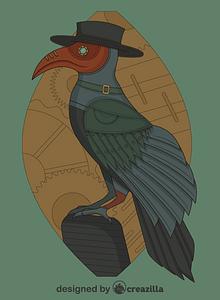 Steampunk Raven vector