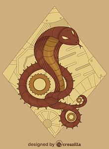 Steampunk Snake vector