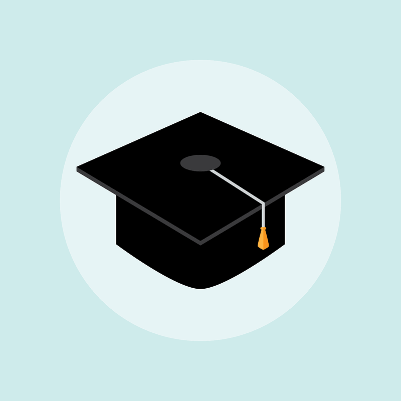 Graduation Hat Background vector