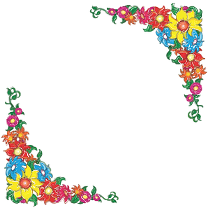 Flowery Border Background vector