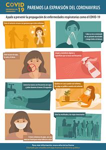 Cartel de prevención contra el coronavirus COVID-19 (Spanish) vector