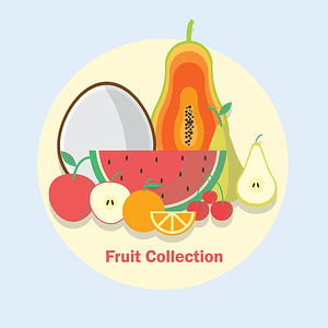 Fruit Collection Background vector