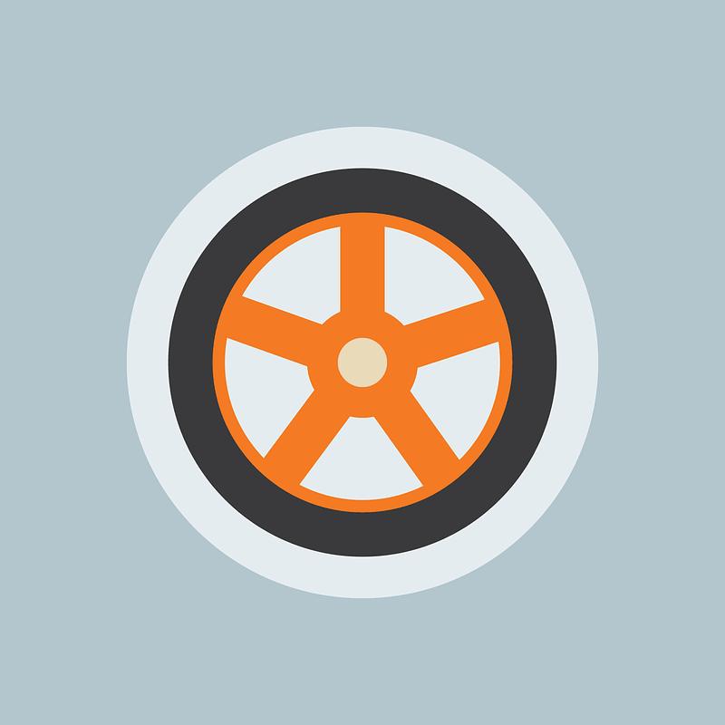 Car Wheel Background vector