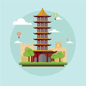 China Background vector