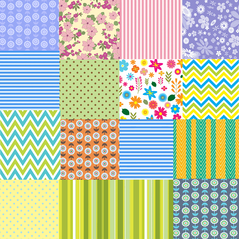 Floral and Abstract Pattern Backgrounds vector