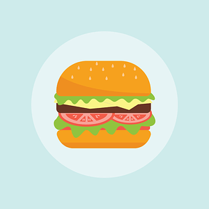 Burger Background vector