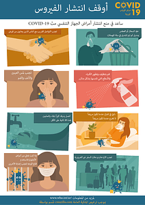 (Arabic) أوقف انتشار الفيروس vector