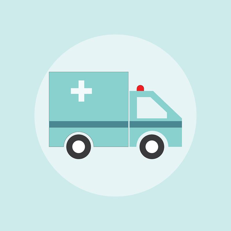 Ambulance Car Background vector