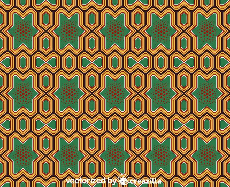 Chinese - Japanese pattern ベクターイメージ狐
