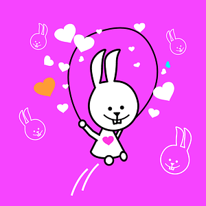 Bunny with Jump Rope Background vector