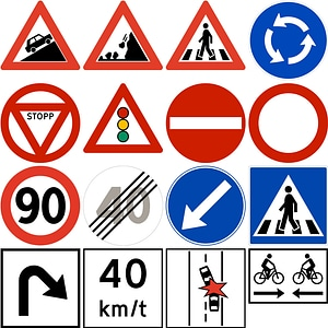 265 Road Signs of Norway vector
