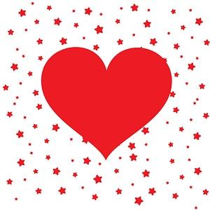 Heart Saint Valentine's Day Card vector