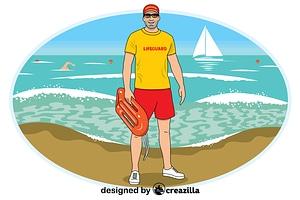 Lifeguard vector