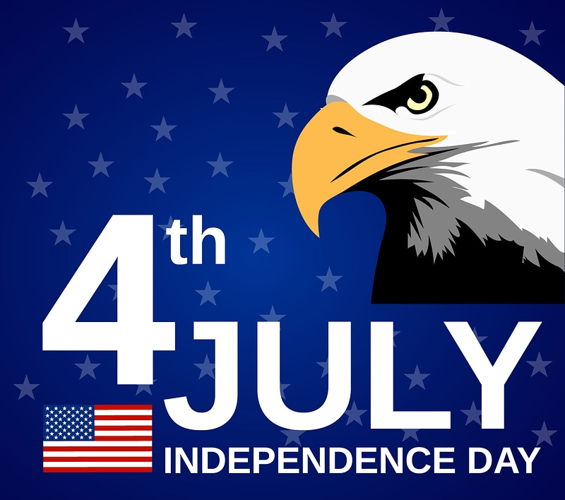4th July Independance Day Banner vector