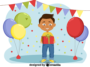 Birthday boy vector