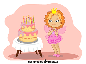 Birthday girl vector