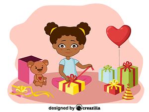Birthday girl vektori