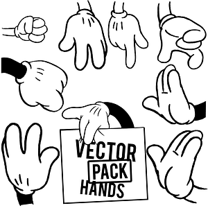 Micky Mouse Hands Set vector