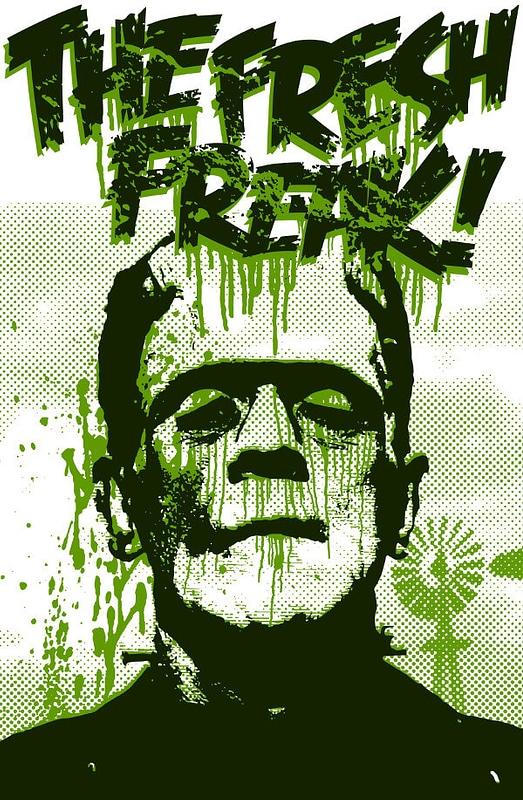 Vetor de Cartaz de Frankenstein