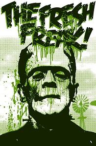 Векторное изображение: Плакат с Франкенштейном