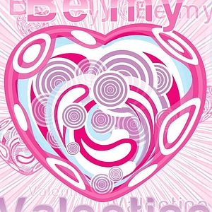 Be My Valentine Card Template vector