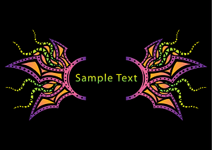 Psychedelic Banner Template vector