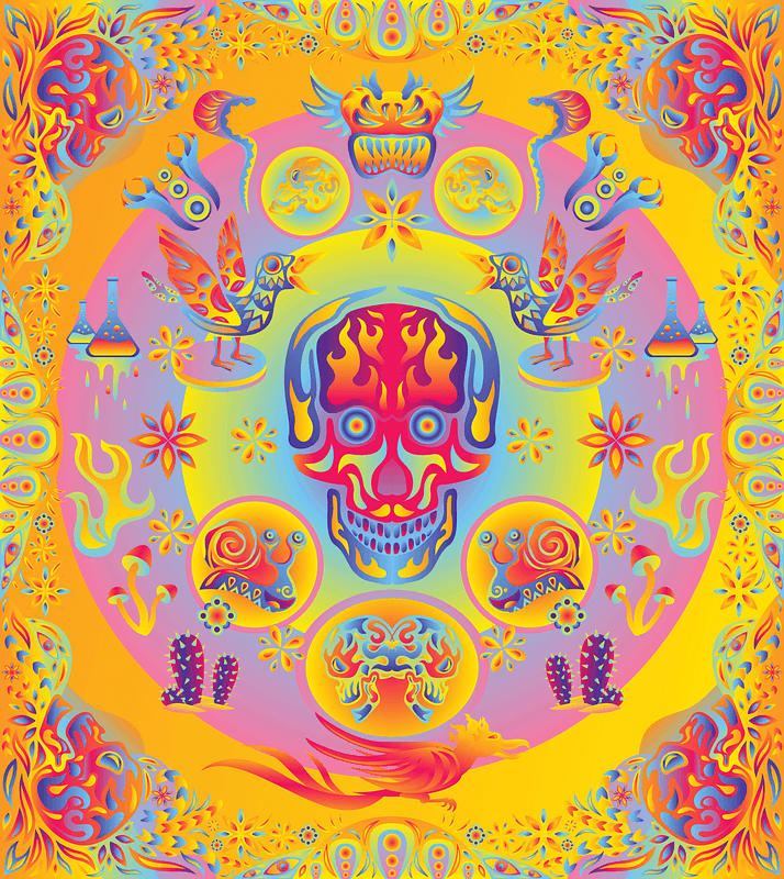 Psychedelic Ornaments and Elements vector