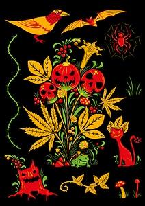 Set of Halloween Elements vector