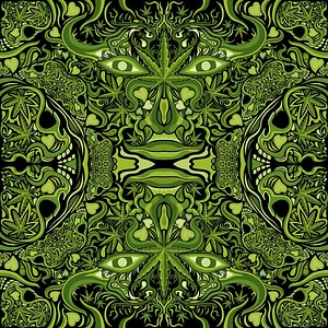 Cannabis Face Background vector
