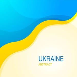 Ukraine Abstract Blue Yellow Banner vector