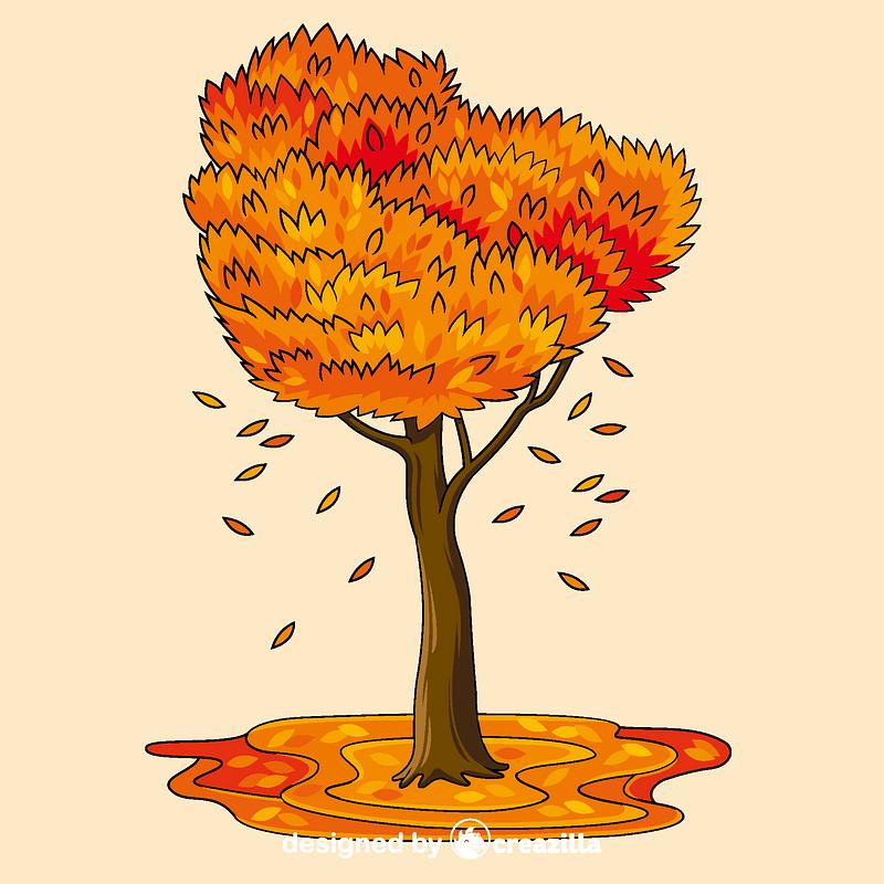 Fall tree vector