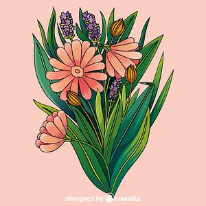 Flowers bouquet vector