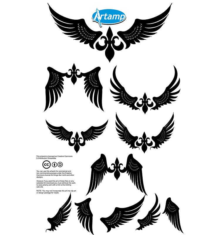 Wings for T-shirt Design vector