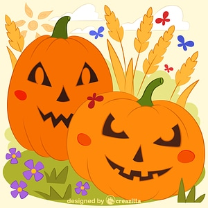 Pumpkin patch vector